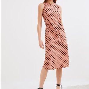 ZARA Belted Dress Polka Dot